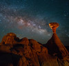 In Close With Milky Way Below The Milky Way - Toadstool Hoodoos, Kanab, Utah