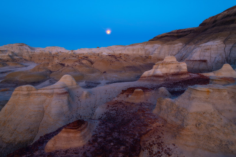 The Lay Of The Land Under The Night -  Bisti/De-Na-Zin Wilderness, New Mexico