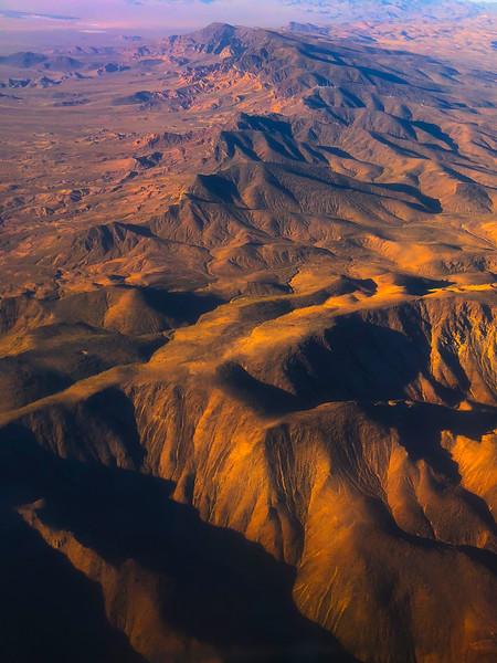 Last Light Reflecting Off The Peaks - La Madre Wilderness, Las Vegas, Nevada