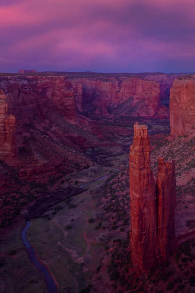 Spider Rock At The Twilight Hour - Canyon De Chelly National Park, Arizona