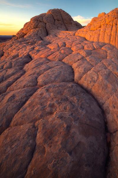 Leading Lines Along The Brain Rock - White Pockets, Vermillion Cliffs National Monument, Arizona
