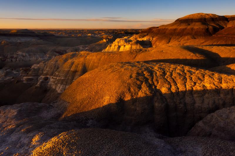 Last Light Glow In The Bisti Badlands -  Bisti/De-Na-Zin Wilderness, New Mexico
