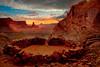 Sunset From False Kiva - Canyonlands National Park, Utah