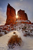 Sunburst Breakthrough -  Park Avenue, Arches National Park, Utah