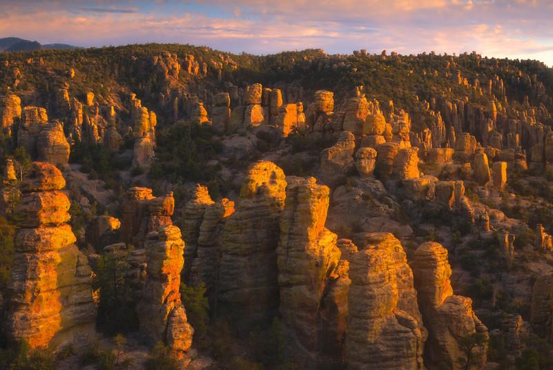 Glow Of Light Basking Into Valley - Chiricahua National Monument, Arizona