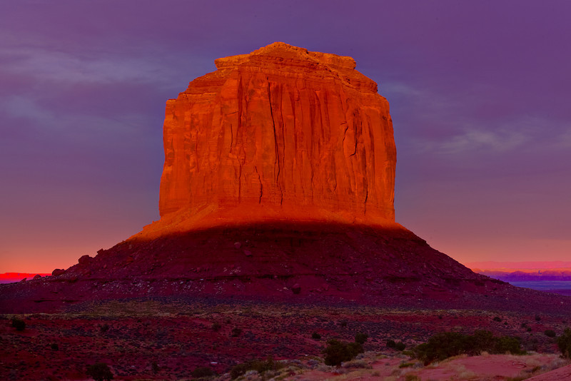 A Burst Of Last Light - Monument Valley, Arizona