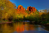 The Warmth Of Red Rock Reflections - Red Rock Crossing, Sedona, Arizona