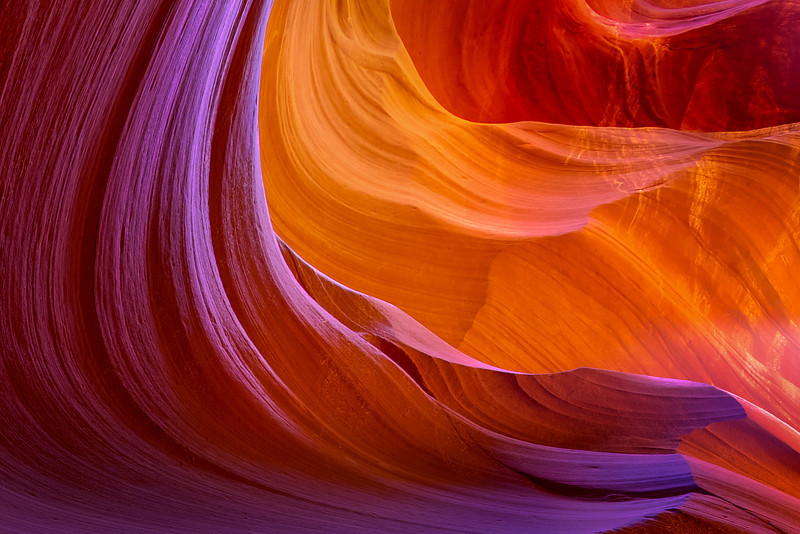 A Different Shade Of Warmth For Each Curve - Lower Antelope Slot Canyon, Page, Arizona