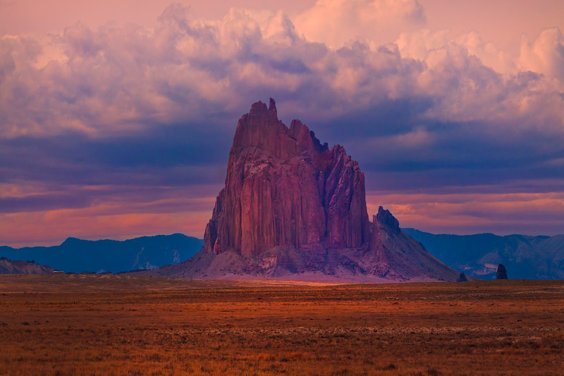 Storms Hovering About - Shiprock, New Mexico