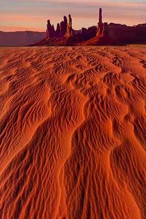 Snakelike Ripples Through The Desert - Monument Valley National Monument, Utah