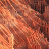 Bryce: canyon wall at sunrise at Inspiration Point