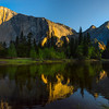 The Three Brothers And El Cap Reflected - Yosemite National Park, Sierra Nevadas, California