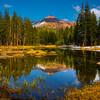 Reflections Of Peak In Upper Yosemite - Yosemite National Park, Sierra Nevadas, California