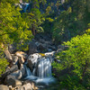 Midway Down The Cascade Falls - Yosemite National Park, Sierra Nevadas, California