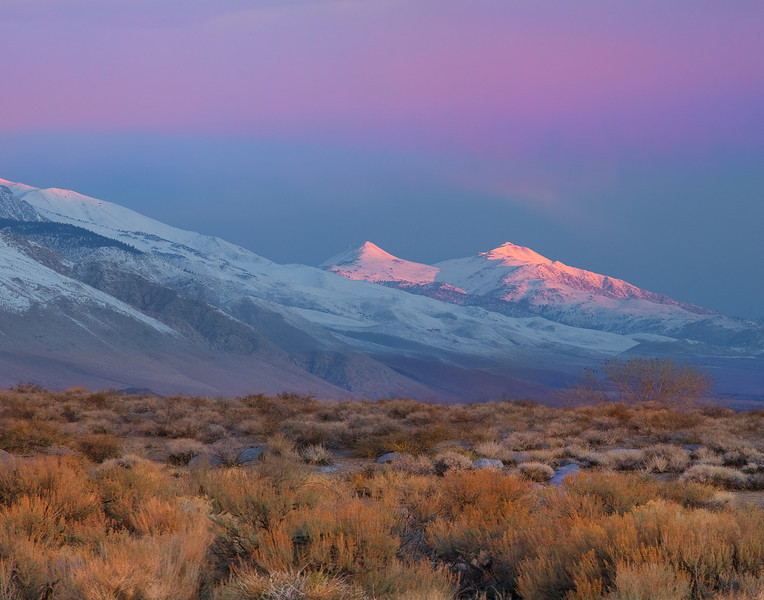 Pink Alpenglow From The Base Of Alabama Hills - Lone Pine, California