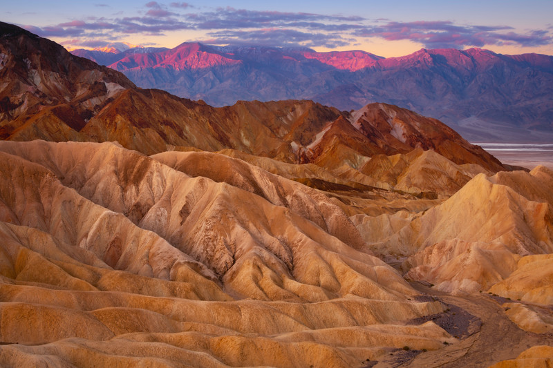The Textures Of The Death Valley Peaks - Death Valley National Park, Eastern Sierras, California