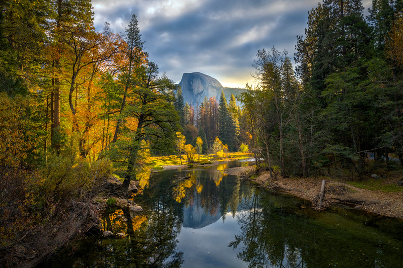 First Morning Light On The Merced - Lower Yosemite Valley, Yosemite National Park, CA