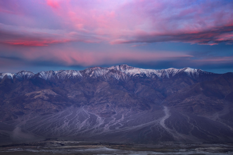 Panaramic Views Of Telescope Peak From Dantes View - Death Valley National Park, Eastern Sierras, California