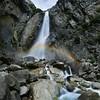 The Lower Yosemite Falls From Uptrail - Yosemite National Park, Sierra Nevadas, California