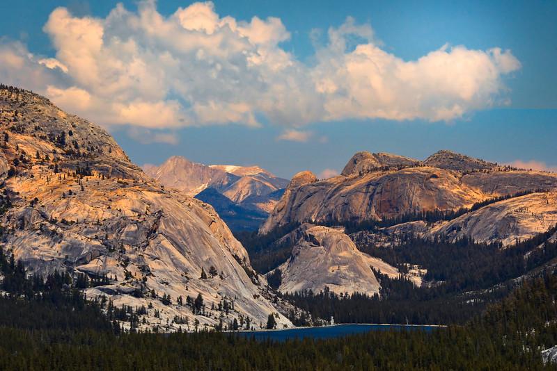 Clouds Above Tenaya Lake - Yosemite National Park, Sierra Nevadas, California