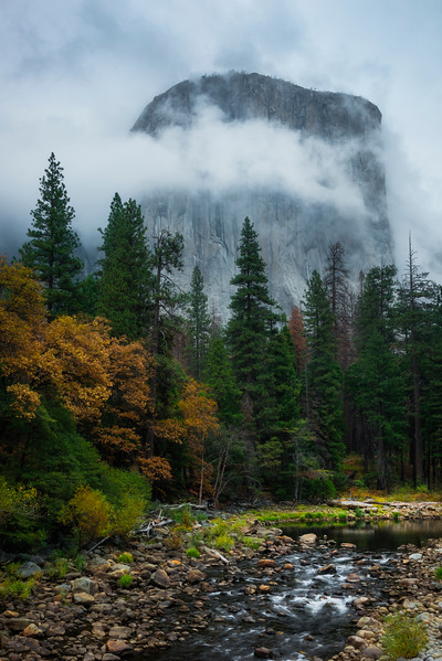 El Captain In The Midst Of The Storm Clouds - Lower Yosemite Valley, Yosemite National Park, CA