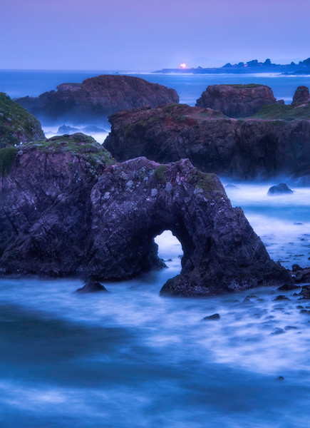 Misty Cool Morning From Mendocino Headlands - Mendocino Headlands, California