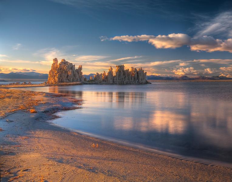 Warm Light Baths The Tufas - Mono Lake, California