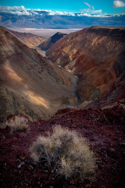 Looking Down Into The Panamint Springs Valley - Death Valley National Park, Eastern Sierras, California