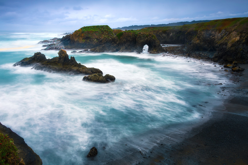 Inside The Cove Of Mendocino - Mendocino Headlands, California
