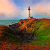 Colors Surround Pigeon Point Lighthouse - Big Sur, California