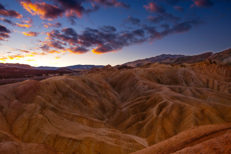 Sunrise Over The Valley Of Peaks - Death Valley National Park, Eastern Sierras, California
