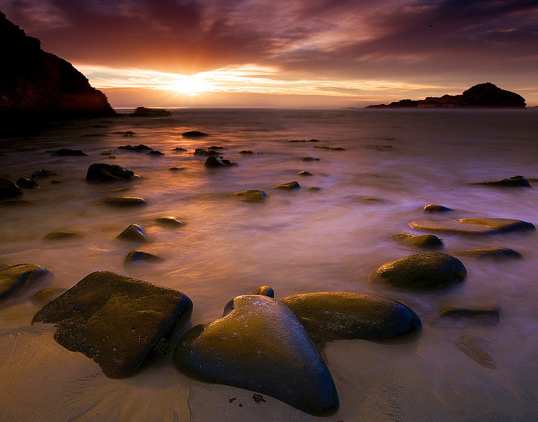 Last Moments Of The Day - Pfeiffer Beach, Big Sur, California