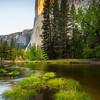 Grass Pads and First Light On El Captain - Yosemite National Park, Sierra Nevadas, California