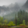 A Rainy Morning Near Valley View - Yosemite National Park, Sierra Nevadas, California