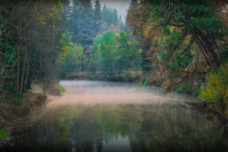 Mystery Fog Along The Merced River - Lower Yosemite Valley, Yosemite National Park, CA