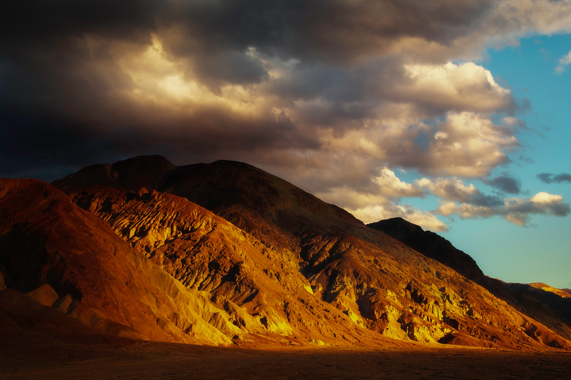 Side Light Hitting The Cliffs Of Death Valley - Death Valley National Park, Eastern Sierras, California