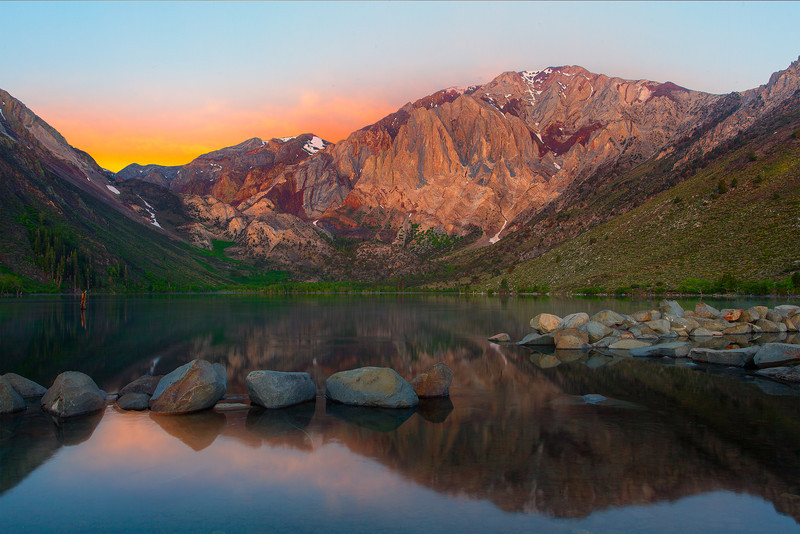 First Signs Of Light - Convict Lake, Mammoth Lakes Region, Eastern Sierras, California