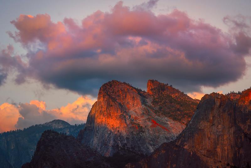 Storm Circles Above BridalVeil - Yosemite National Park, Sierra Nevadas, California