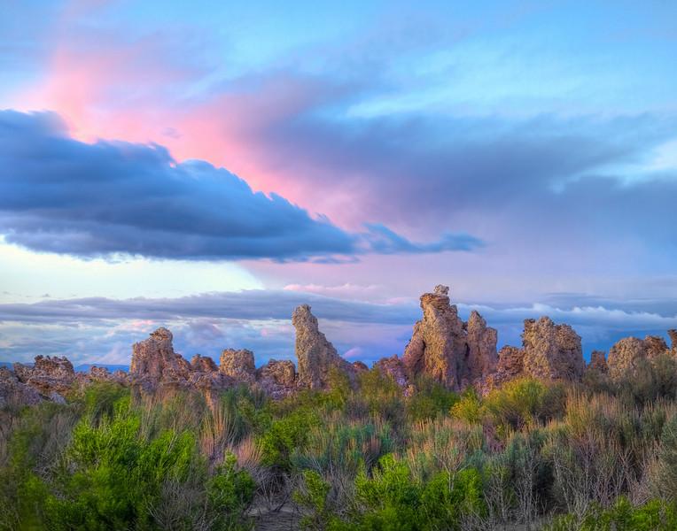 Pinks And Greens - Mono Lake, Lee Vining, Eastern Sierras, California