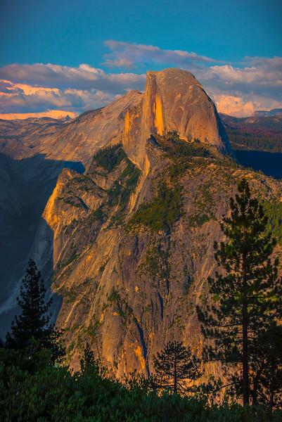 Half Dome Near Sunset From Glacier Point - Yosemite National Park, Sierra Nevadas, California