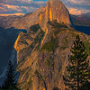 Half Dome Near Sunset From Glacier Point - Yosemite National Park, Sierra Nevadas, California