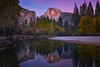 Half Dome At Housekeeping Bend At Twilight - Lower Yosemite Valley, Yosemite National Park, California