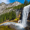 Vernal Falls And Rainbow On The Way Up - Yosemite National Park, Sierra Nevadas, California