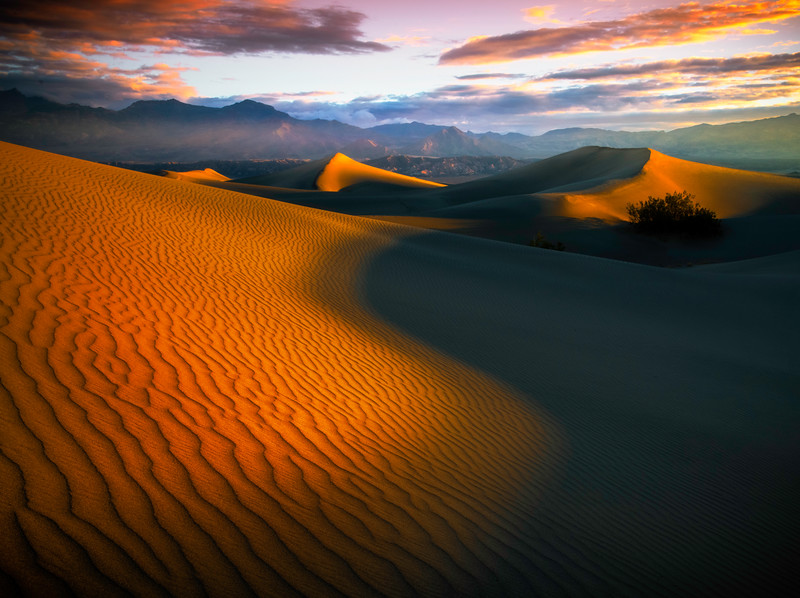 The Line Between Shadows And Light - Death Valley National Park, Eastern Sierras, California