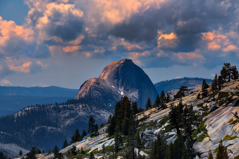 Olmstead Point In Clouds - Yosemite National Park, Sierra Nevadas, California