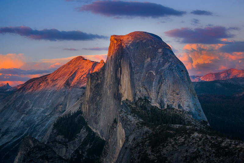 Half Dome At Last Light From Glacier Point - Yosemite National Park, Sierra Nevadas, California