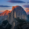 Half Dome At Last Light From Glacier Point - Yosemite National Park, Sierra Nevadas, California