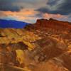 Twilight Color Over Zabriskie Point - Death Valley National Park, California