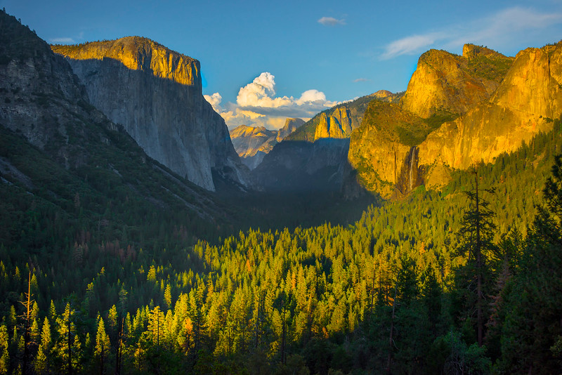 Wide View Of Tunnel View - Yosemite National Park, Sierra Nevadas, California