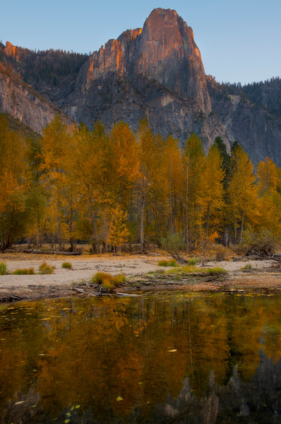 Sentinel Rock From Yosemite River Bend - Lower Yosemite Valley, Yosemite National Park, California
